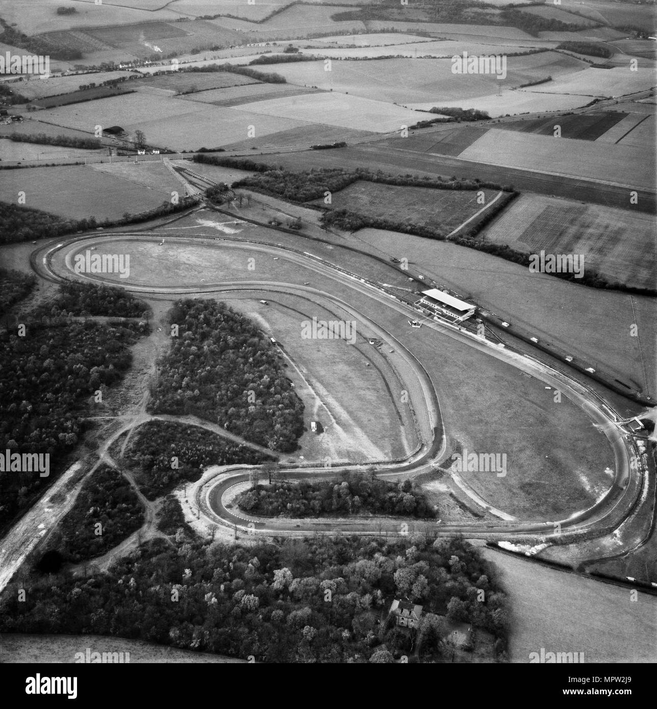Brands Hatch Rennstrecke, Kingsdown, Kent, 1955. Artist: Aerofilms. Stockbild