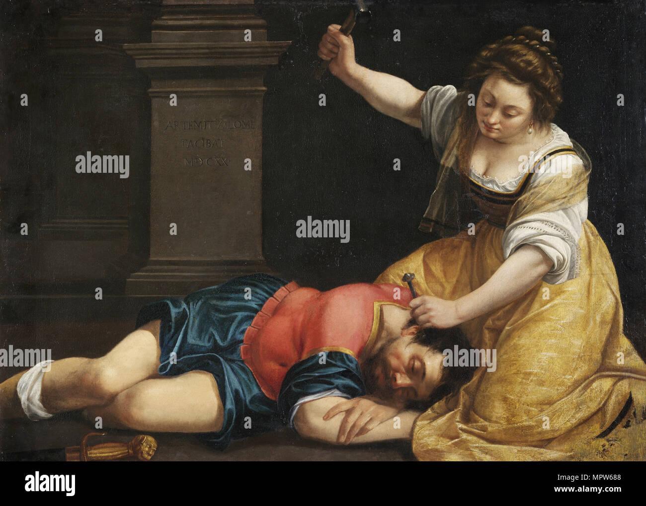 Jael und Sisera, C. 1620. Stockbild