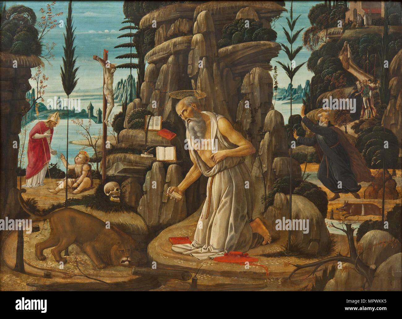Den Beichtenden Hl. Hieronymus. Stockbild