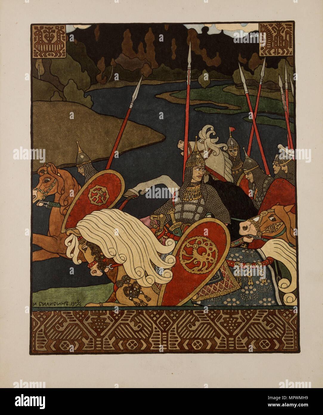 Abbildung: für Alte russische Legende Wolga, 1901-1904. Stockbild