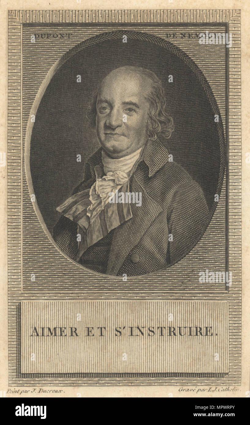 Pierre Samuel Du Pont de Nemours (1739-1817). Stockbild