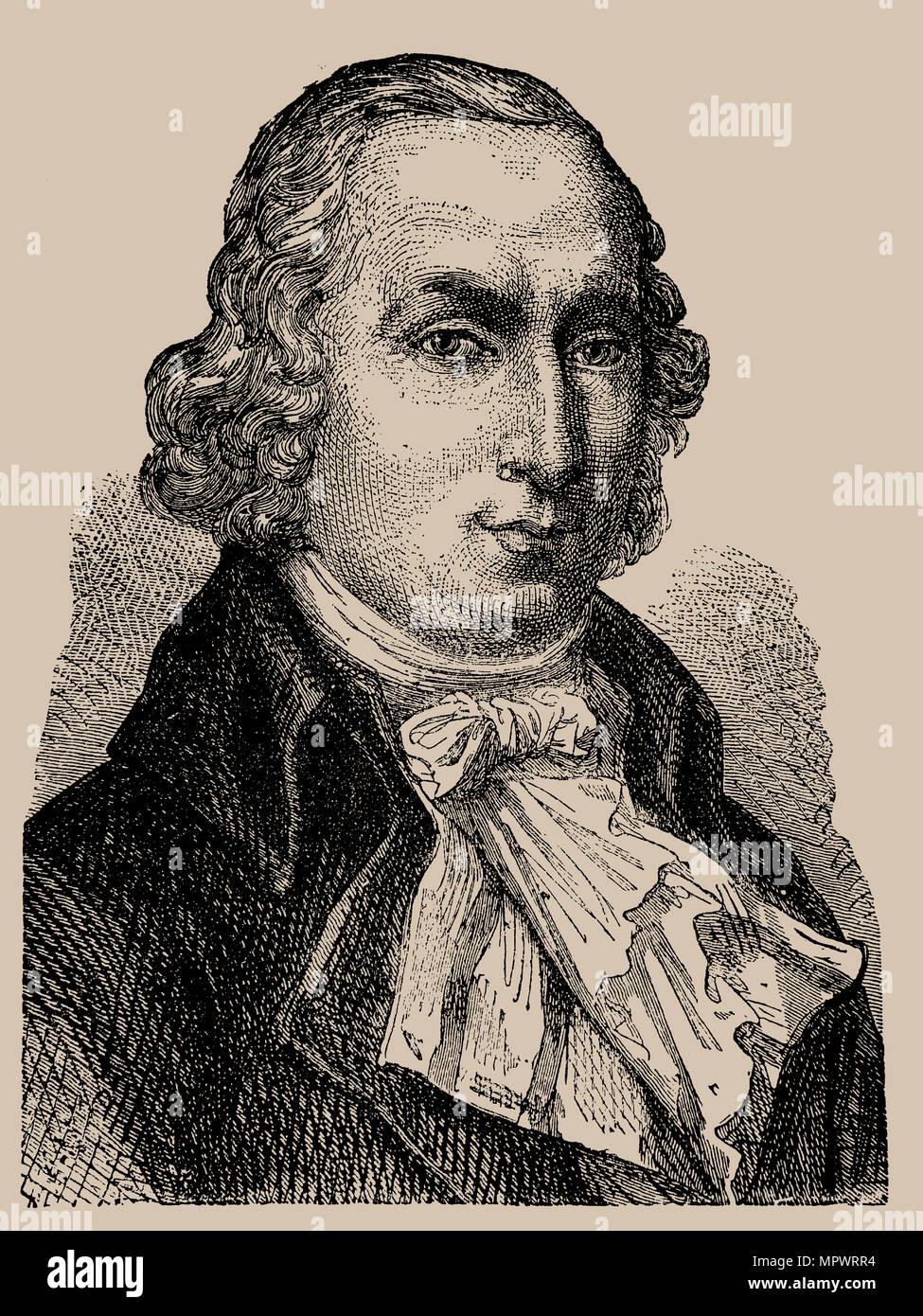 Pierre Samuel Du Pont de Nemours (1739-1817), 1889. Stockbild
