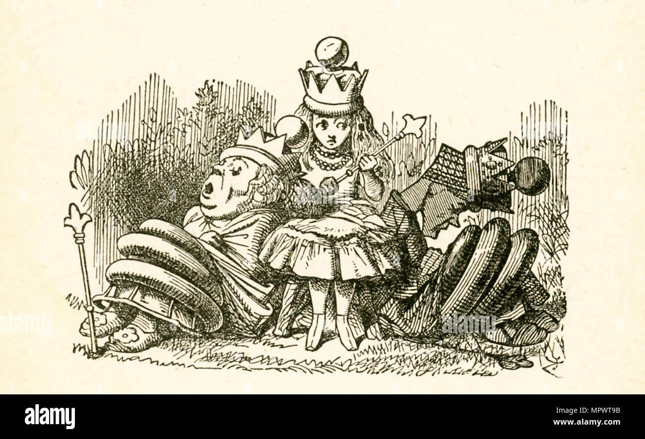 Diese Abbildung Von Alice Mit Den Zwei Sleepingqueens Die Weiße