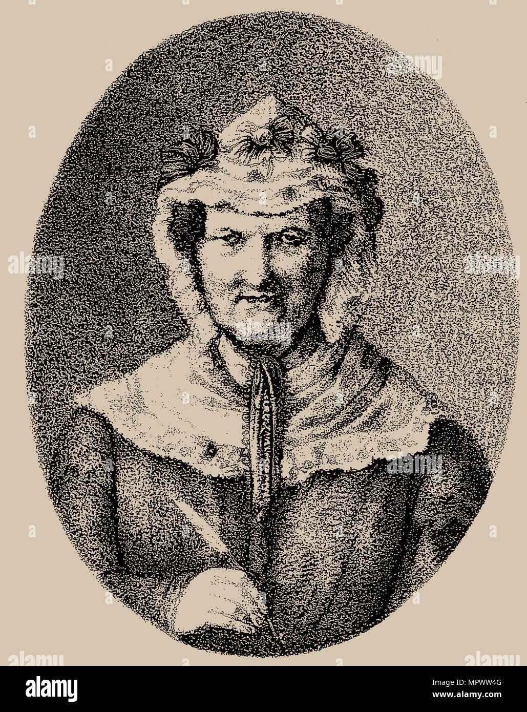 Regula Engel-Egli (1761-1853), Mitte des 19. Cen.. Stockbild