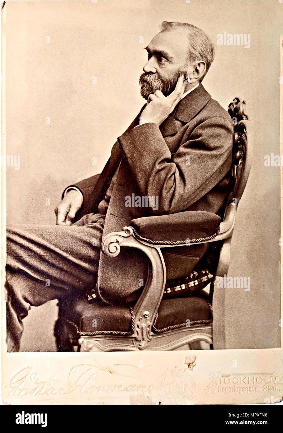 Alfred Nobel (1833), 1870s 1880s. Stockbild