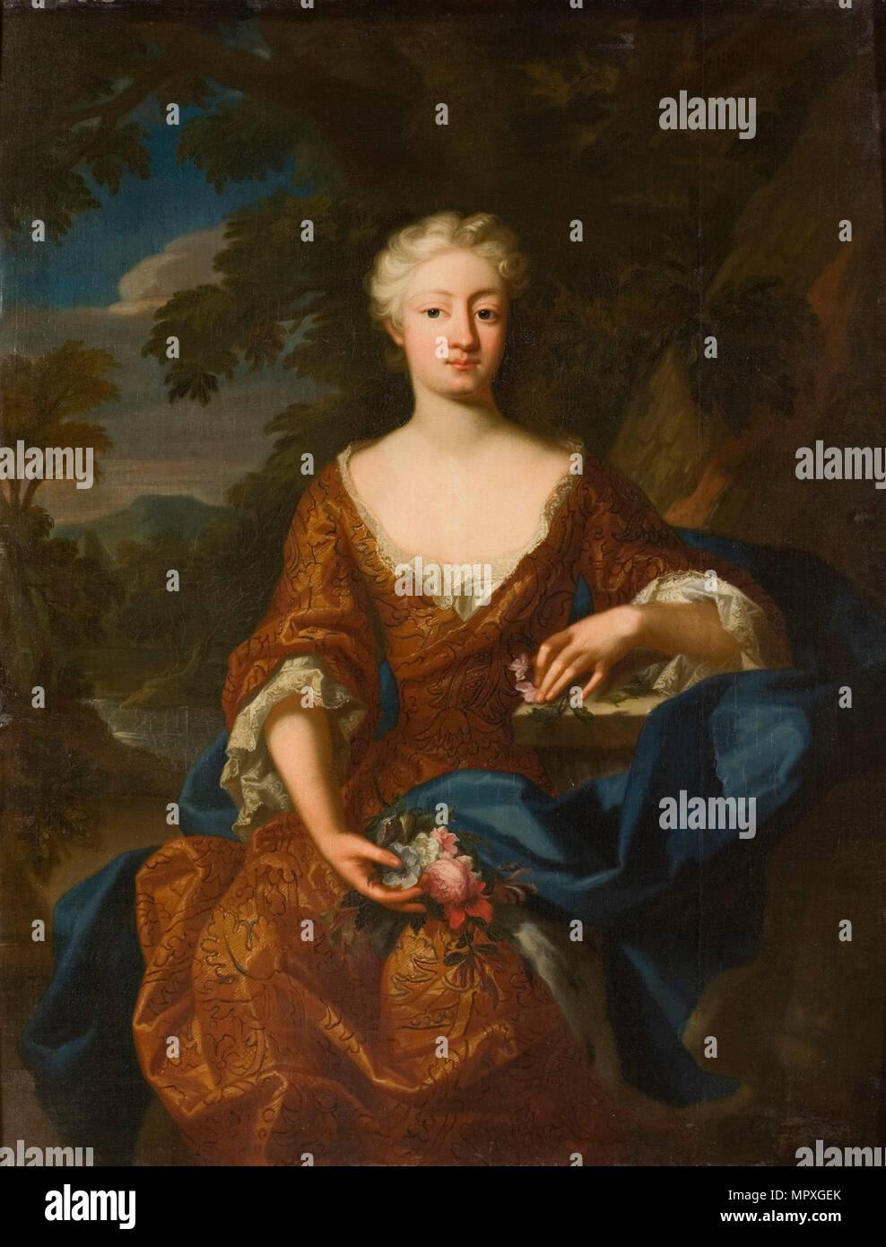 Portrait der Prinzessin Luise Dorothea von Preußen (1680-1705), 1724. Stockbild