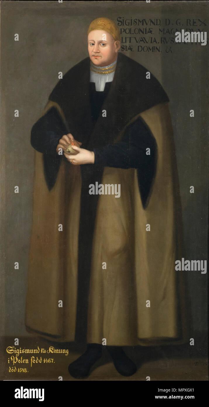 Portrait von Sigismund I. von Polen (1467-1548), 1667. Stockfoto