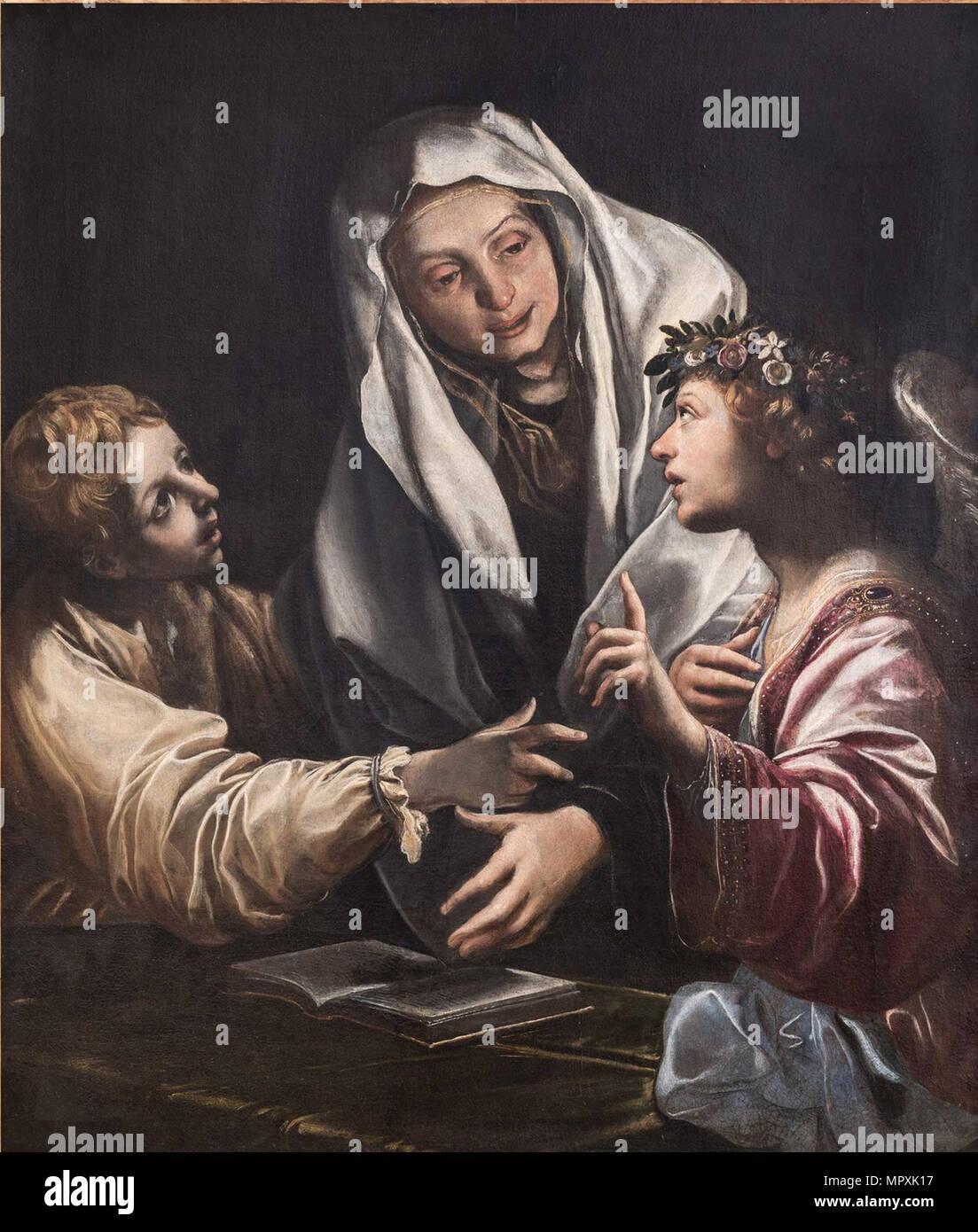 Die Vision des hl. Franziska von Rom. Stockbild