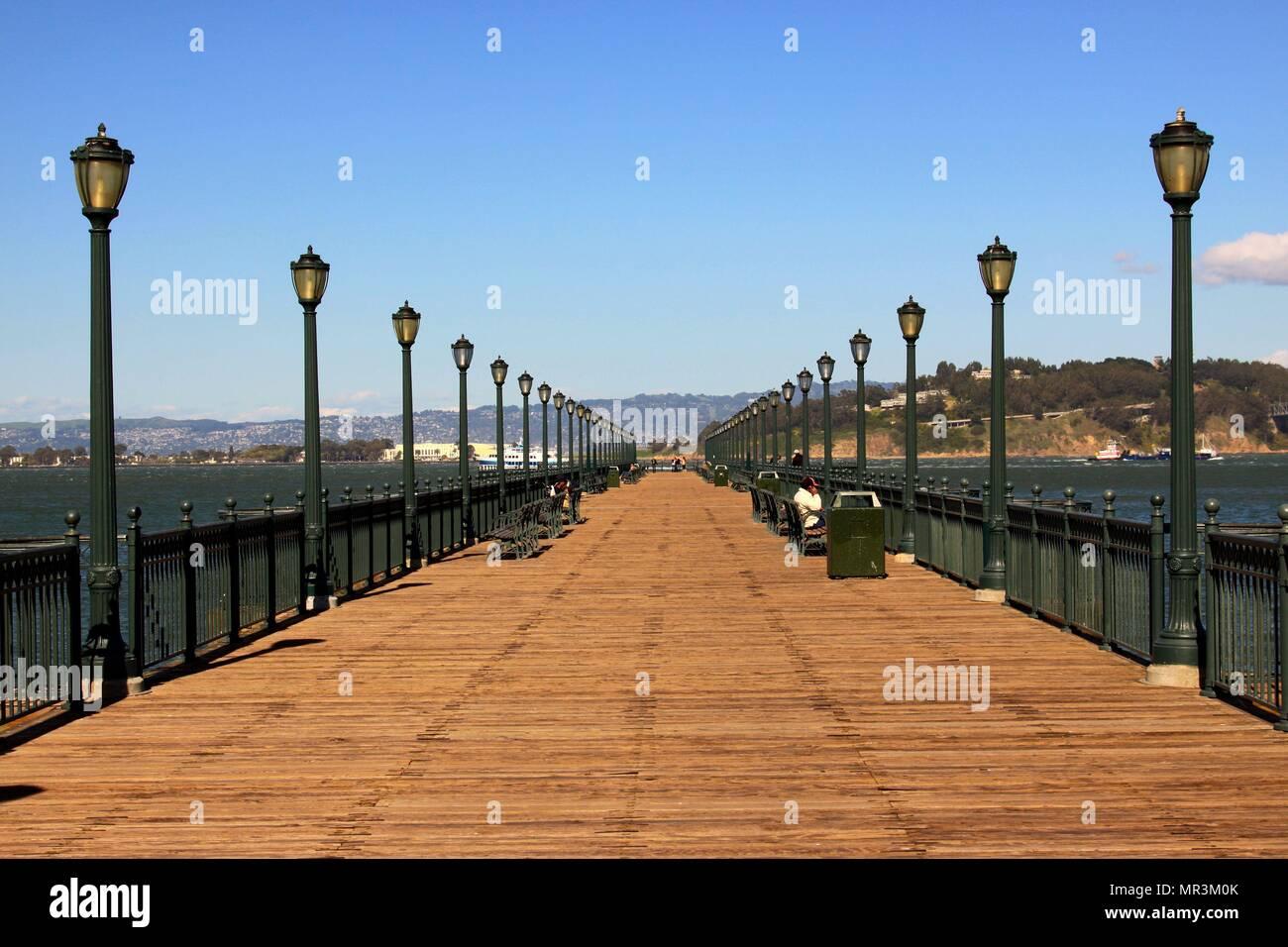 San Francisco Pier 7. Stockbild