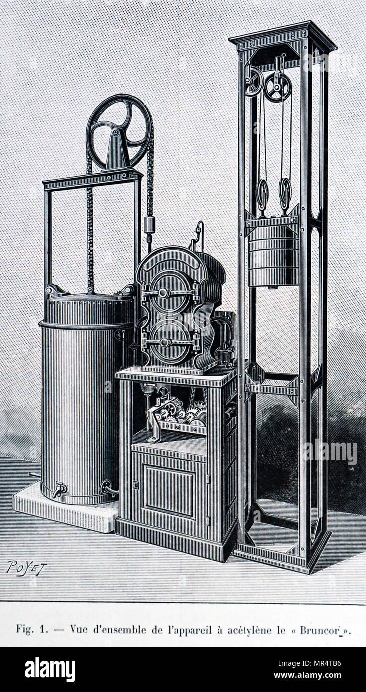 Detail einer Bruncor Acetylen gas-Anlage für die Versorgung von ...
