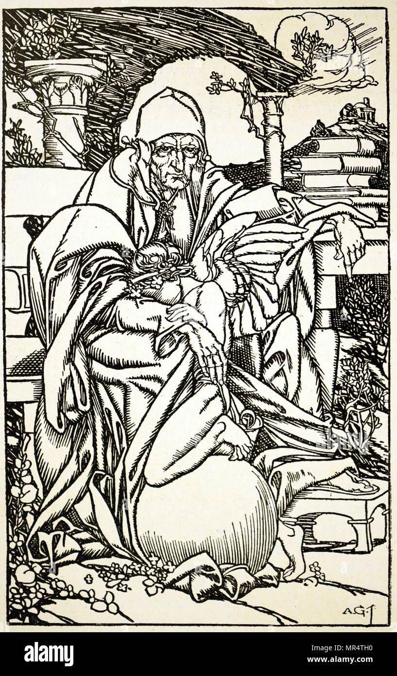 Abbildung begleitenden Alfred Tennyson Baron Tennyson Tribut (In Memoriam) zu Arthur Hallam. Alfred Tennyson Baron Tennyson (1809-1892) eine britische Poet Laureate. Arthur Hallam (1811-1833), englischer Dichter. Vom 19. Jahrhundert Stockbild