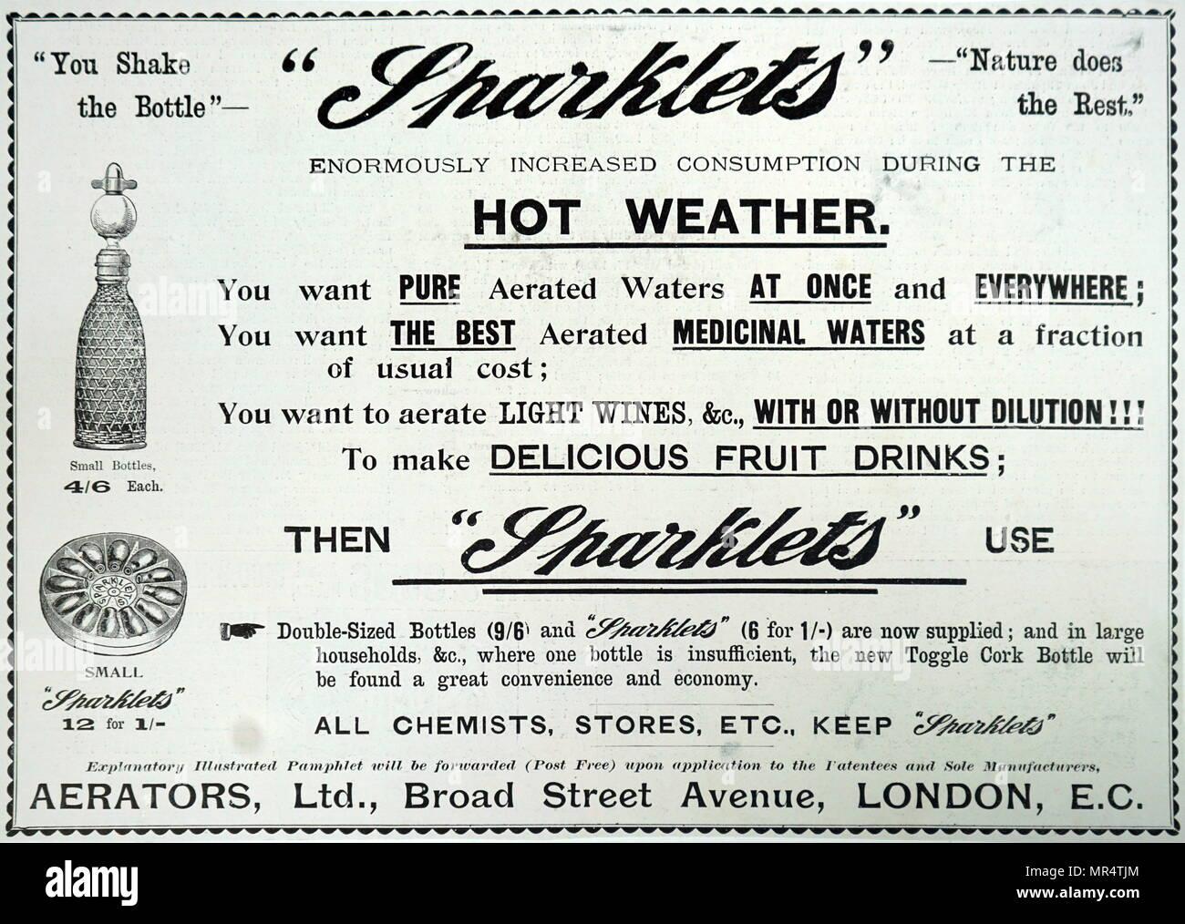 Englisch aus dem 19. Jahrhundert, Werbung für sparkler Gaskartuschen ...