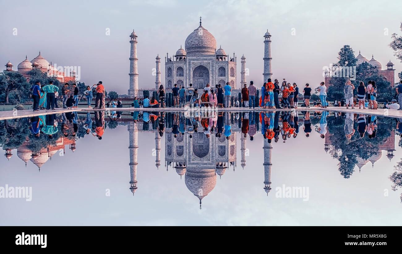 Taj Mahal in Agra Stockbild