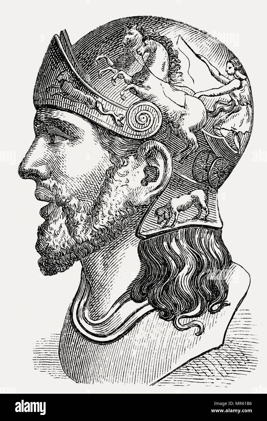Masinissa oder Masensen Masensen, C., 238 v. Chr. - 148 v. Chr., der erste König von numidien Stockbild