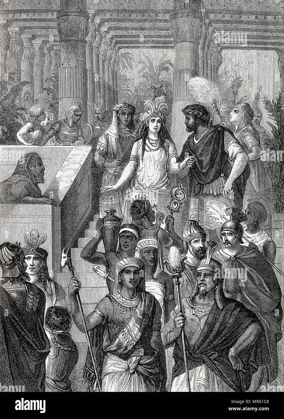 Hochzeit von Masinissa, c 238 v. Chr. - 148 v. Chr., der erste König von Numidien und Sophonisba, eine karthagische Adlige Stockbild