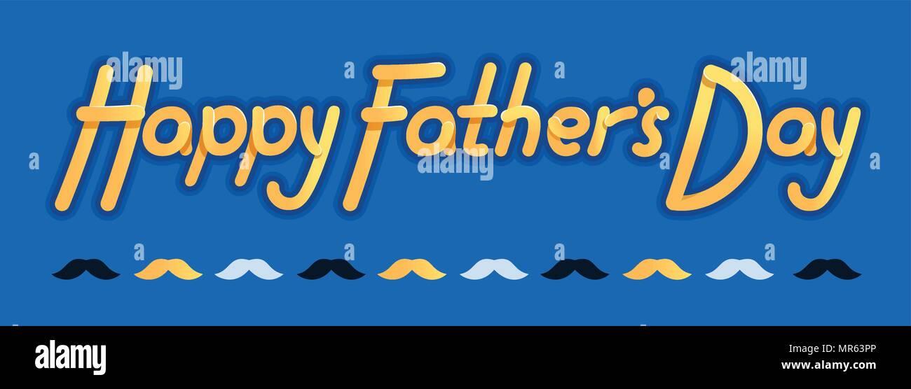 Happy Vatertag - Illustration für Vatertag - Logo und Slogan für T ...