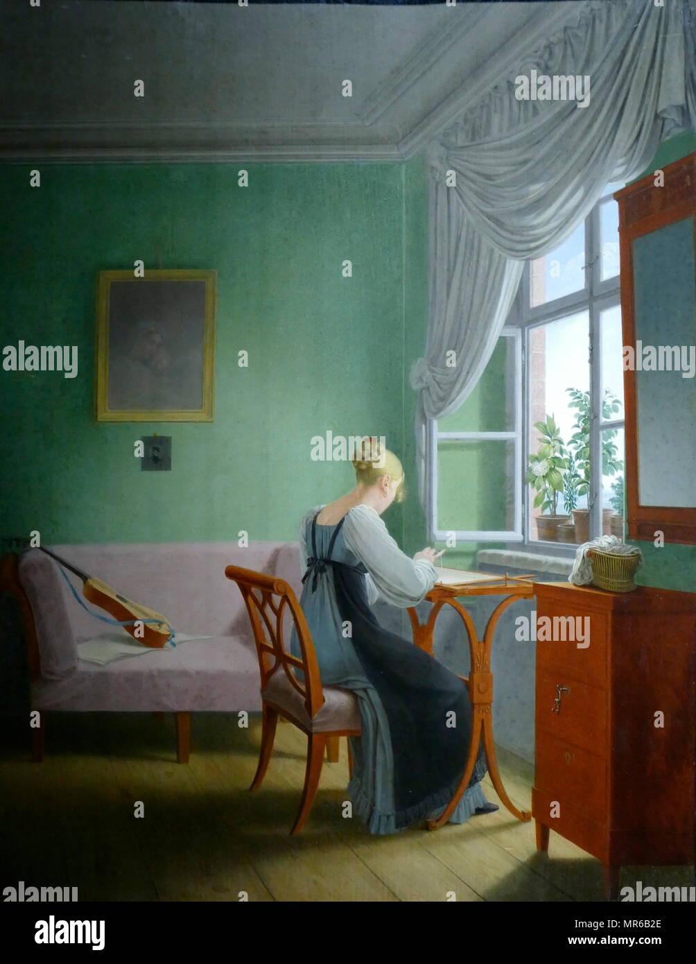 Stickerinnen am fenster 1817 gemalt von georg friedrich keretlng 1768 1847 georg friedrich - Am besten fenster putzen ...