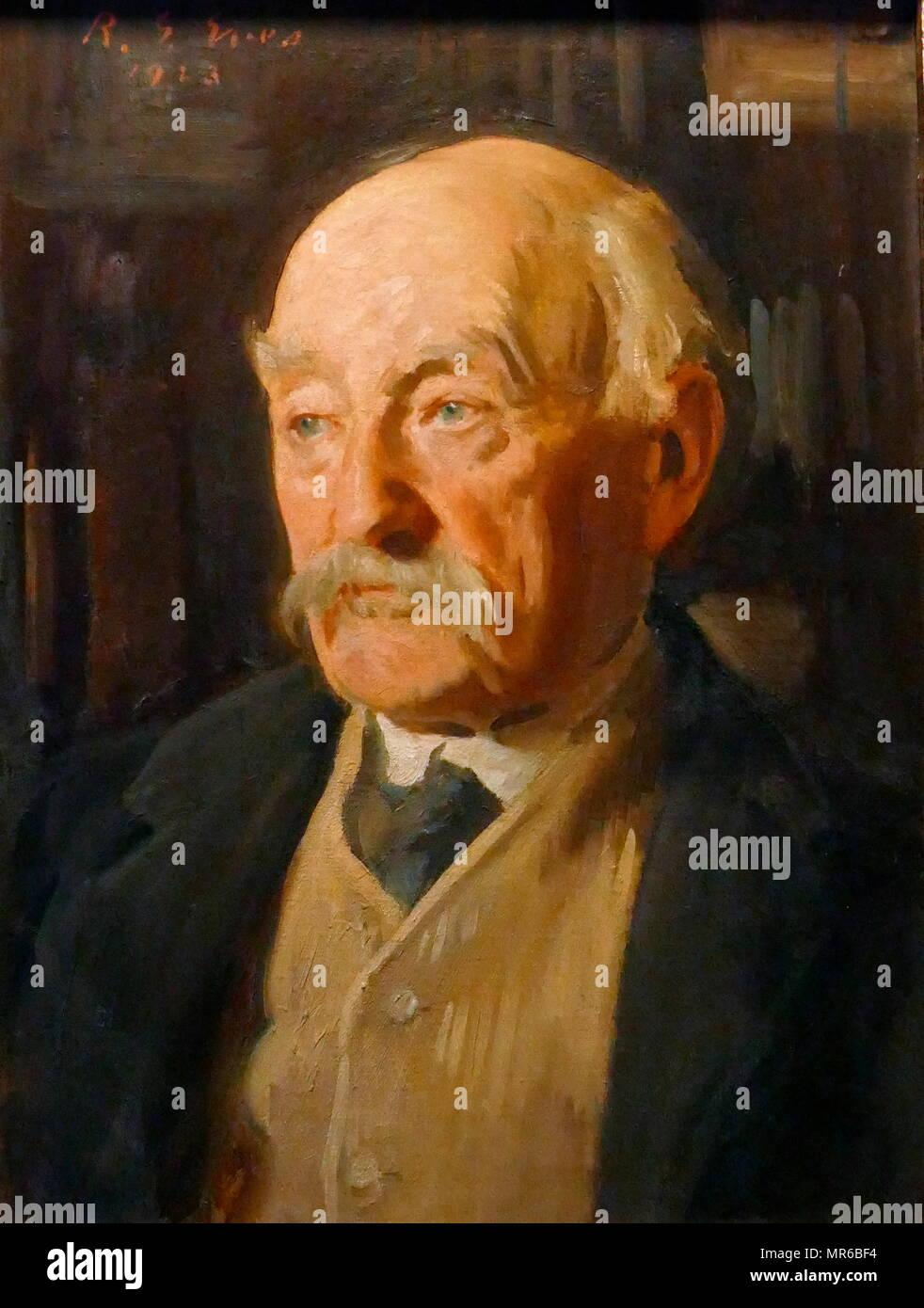 Thomas Hardy (1840-1928), englischer Autor. Portrait von Reginald Grenville Eves, 1923. Reginald Grenville Eves RA (24. Mai 1876 bis 13. Juni 1941) war ein britischer Maler, die Porträts von vielen Prominenten militärischen, politischen und kulturellen Figuren Stockbild