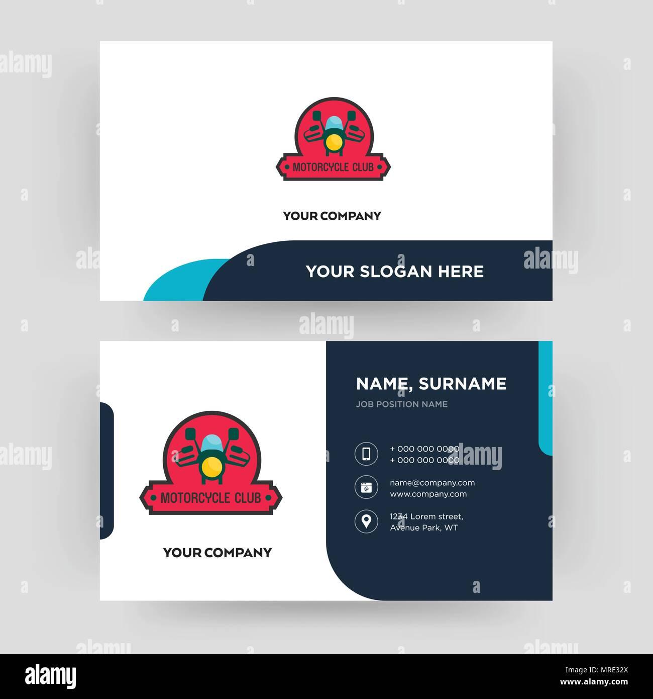 Motorrad Club, Business Card design Vorlage, die Sie für Ihre Firma ...