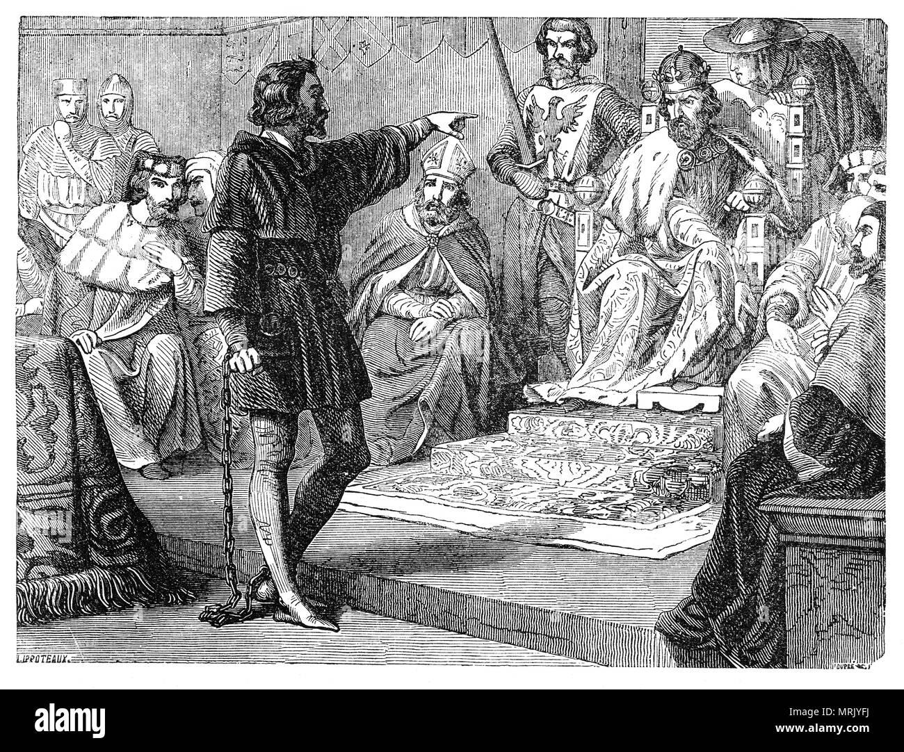 Nach dem Dritten Kreuzzug, König Richard I., verkleidet als Templer ...
