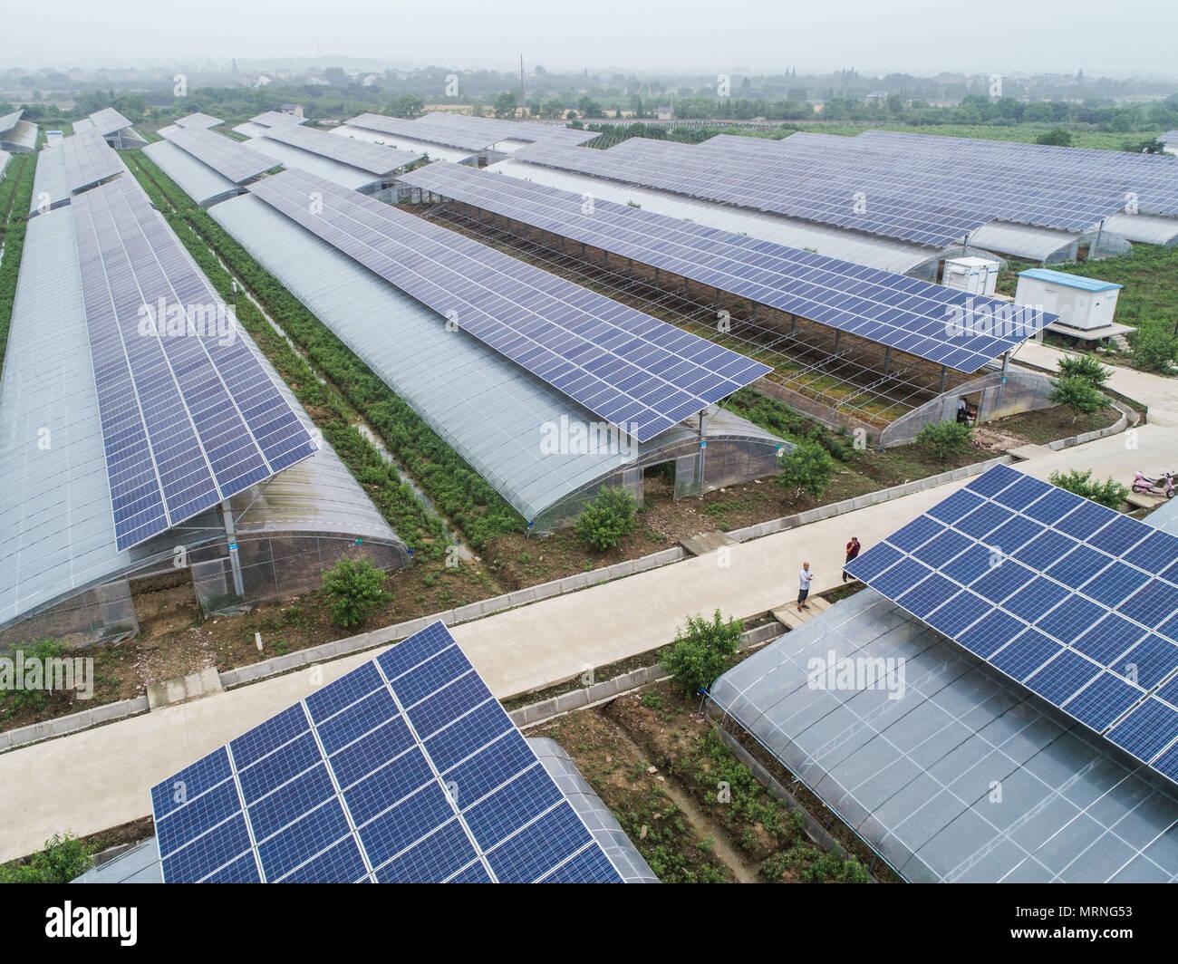 Changxing 27 Mai 2018 Foto Am 27 Mai 2018 Zeigt Photovoltaik