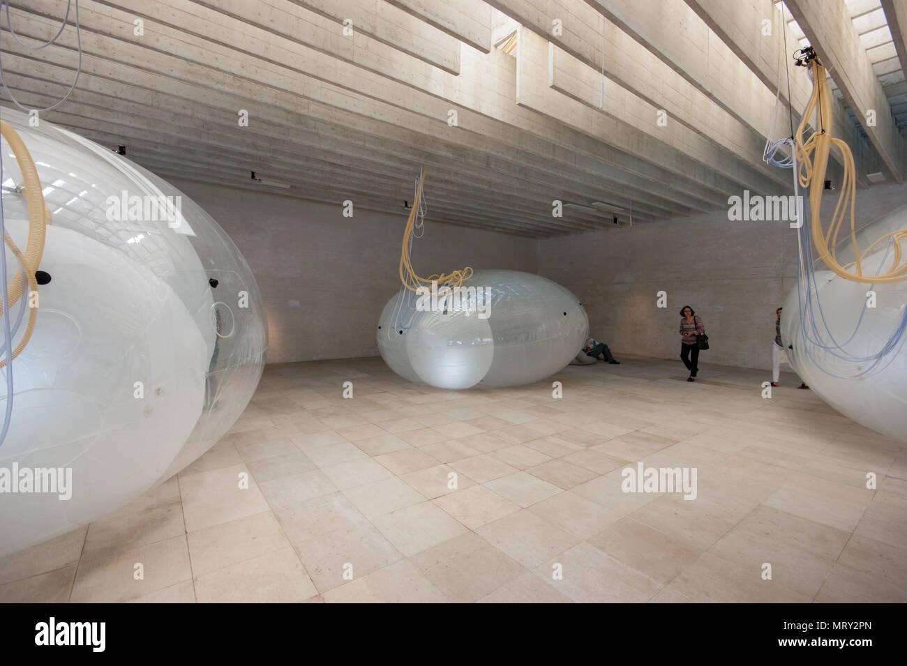Ein weiterer Großzügigkeit durch Norwegens Lunden Architektur, Ausstellung der Nordischen Länder Pavillon auf der Architektur-Biennale in Venedig 2018 Stockbild