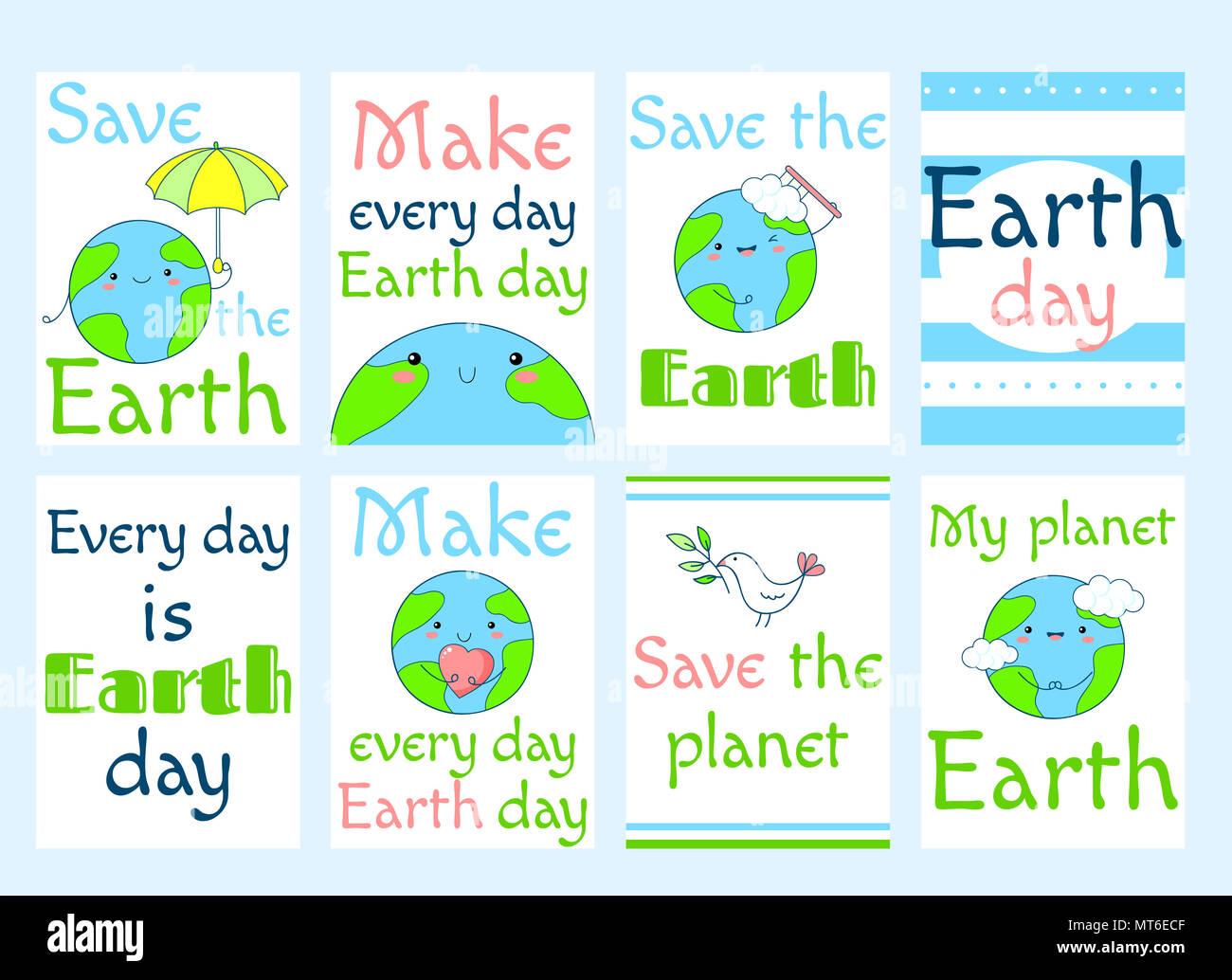 Einstellen Des Earth Day Banner Etiketten Flyer Aufkleber
