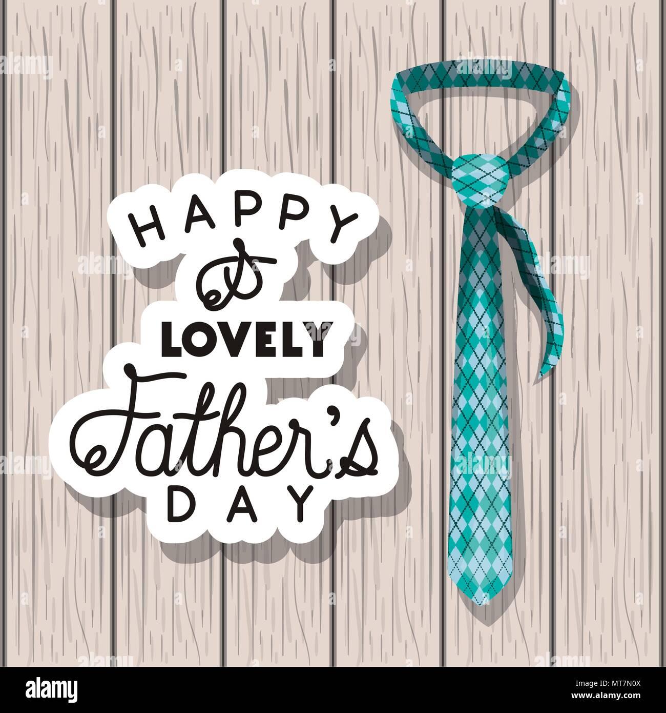 Happy Vatertag Karte Mit Elegante Krawatte Vektor Abbildung Bild