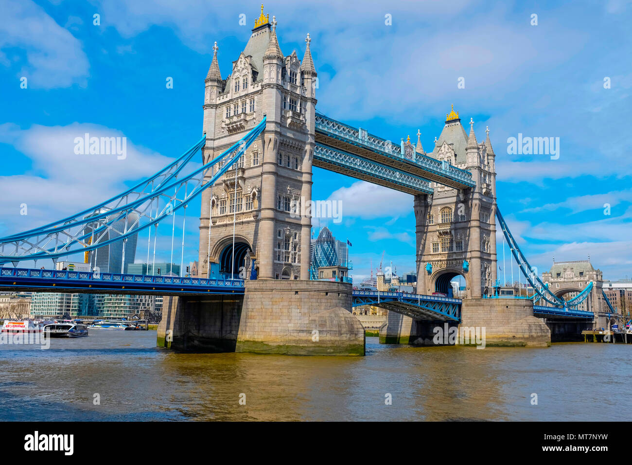Tower Bridge, London, Vereinigtes Königreich Stockbild
