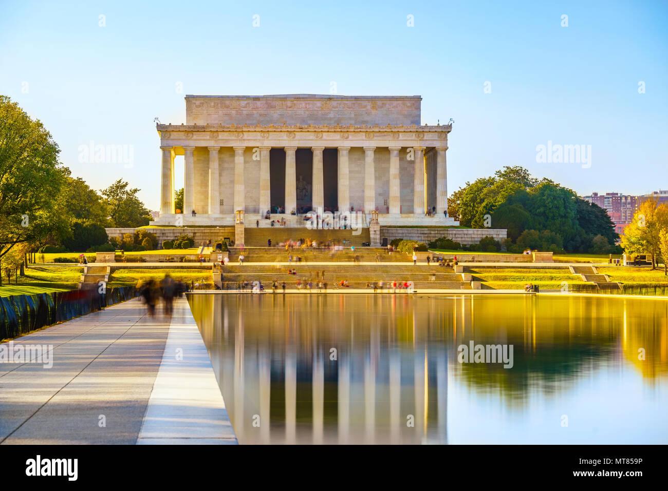 Lincoln Memorial in Washington, D.C. Stockbild