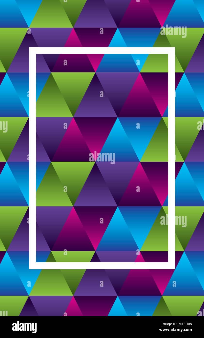 Geometrische Figuren und Farben workart Frame Stockbild
