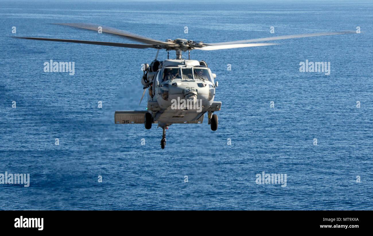 Meer 12 März 2018 Einem Mh 60s Sea Hawk Hubschrauber Meer Combat