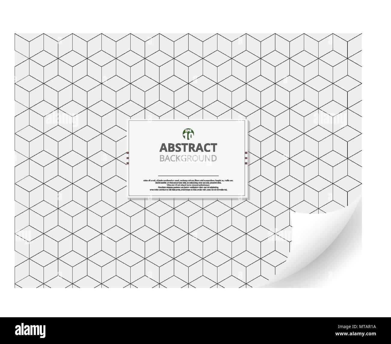 Zusammenfassung Von Geometrischen Cube Muster Hintergrund Mit Kopie