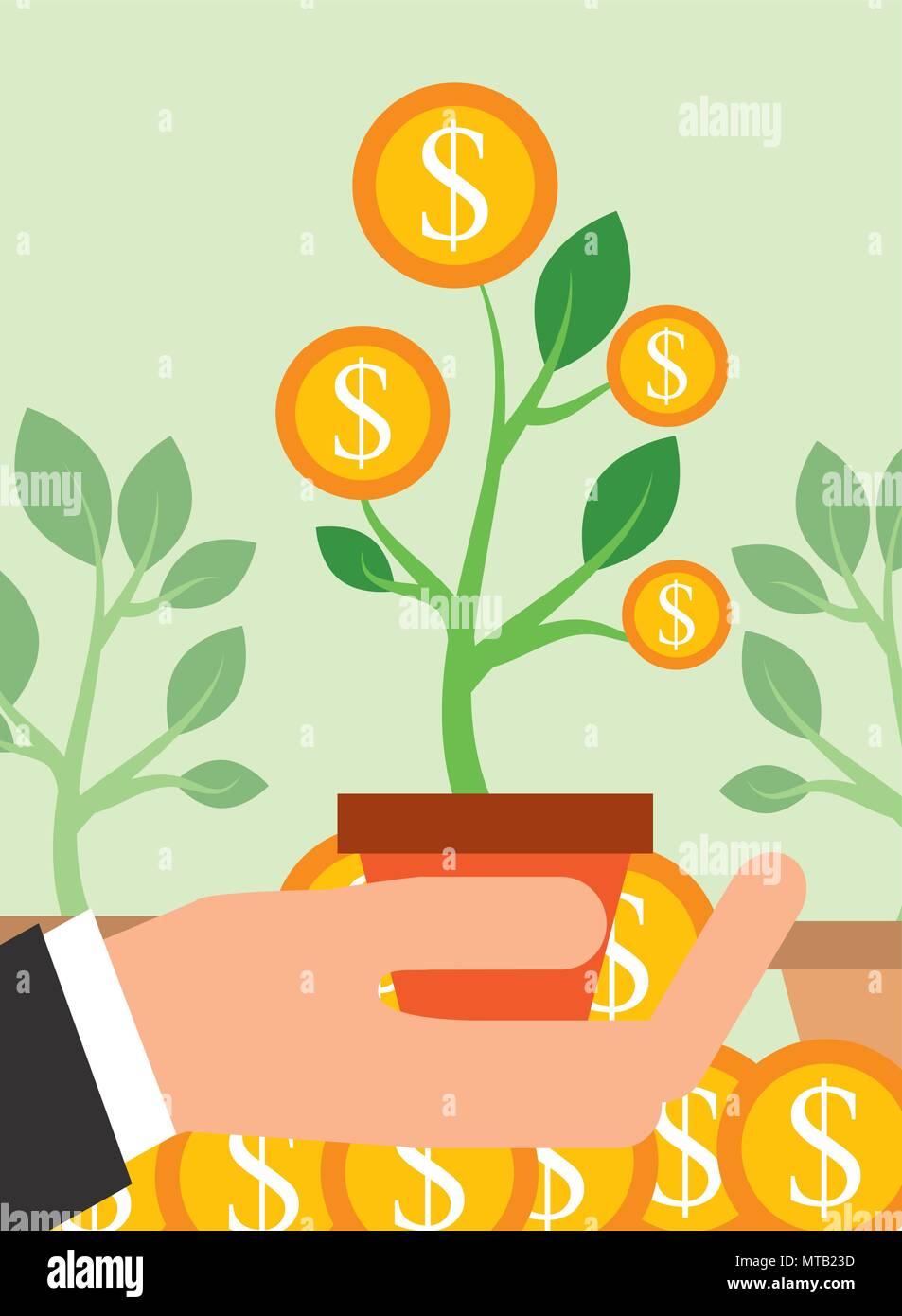 Geld sparen Unternehmen Stockbild