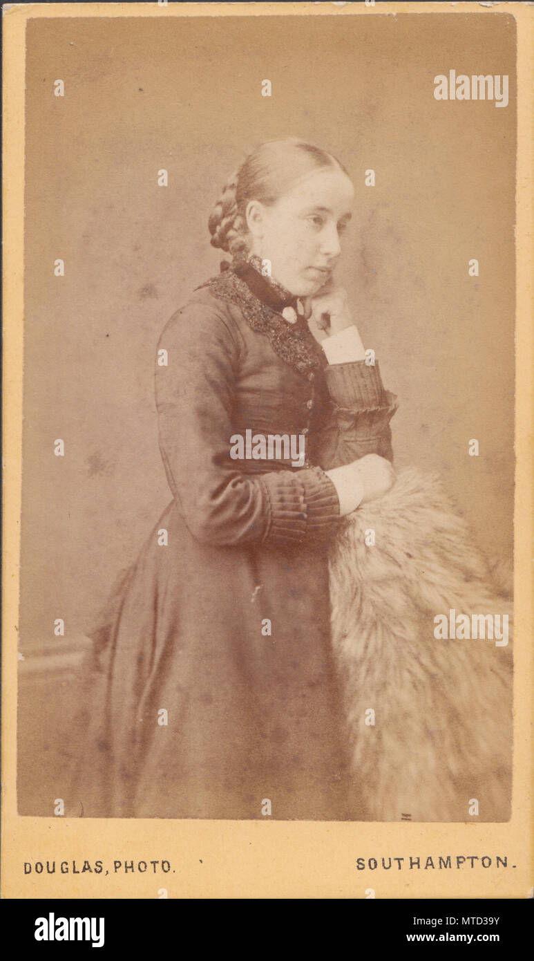 Southampton CDV Carte De Visite Eines Viktorianischen Dame Stockbild