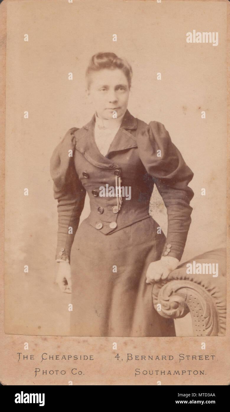 Southampton Hampshire CDV Carte De Visite Eines Viktorianischen Dame