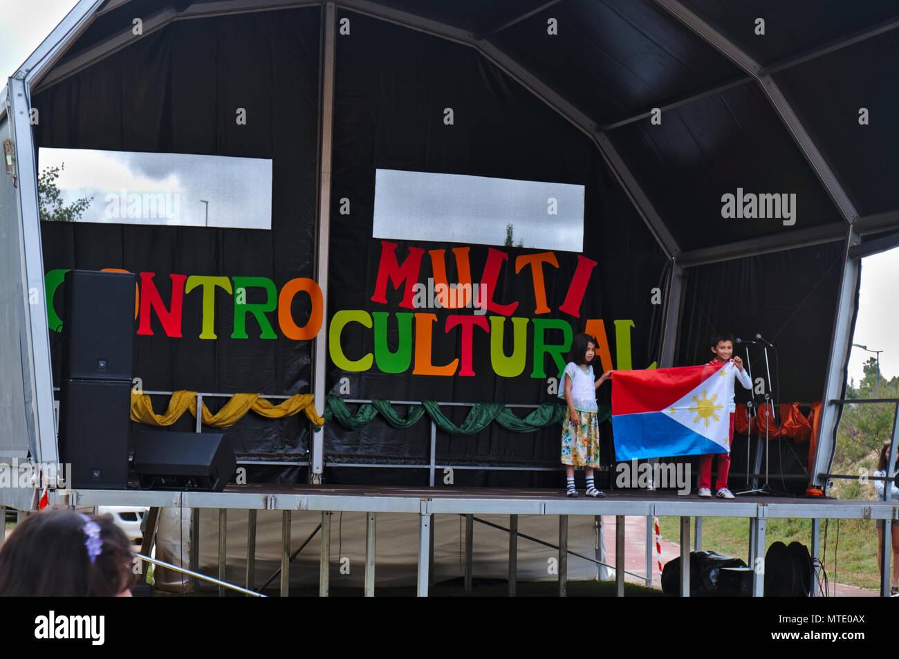 IV Encontro Multicultural (multikulturelle Begegnung) in Albufeira, Algarve, Portugal. 25 Mai, 2018 Stockbild