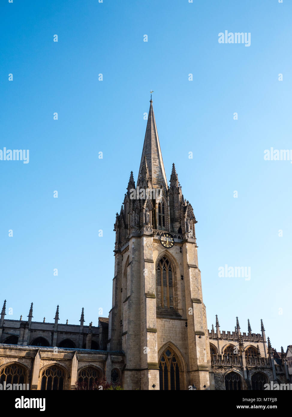 Universität Kirche St. Maria, der Jungfrau, Oxford, Oxfordshire, England, UK, GB. Stockbild