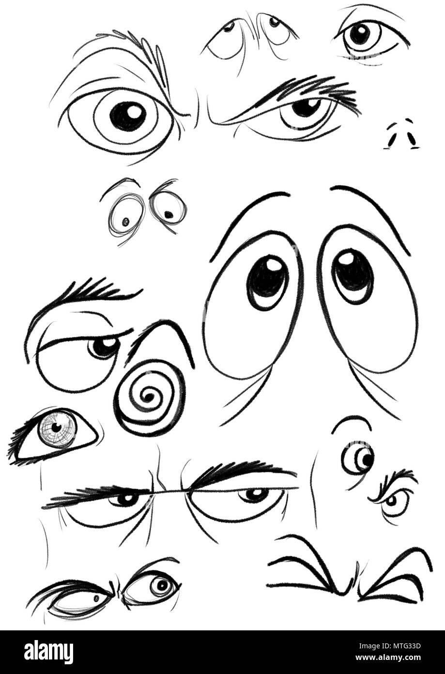 Blatt sortierte Augen Stockbild