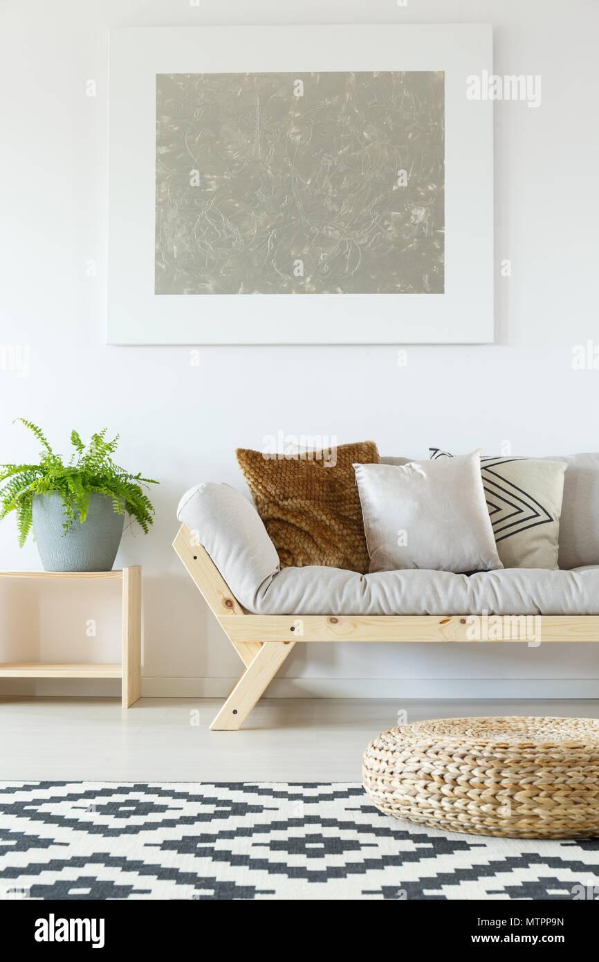 Gemütliche Einrichtung In Weiß Natur Studio Apartment Mit Beige