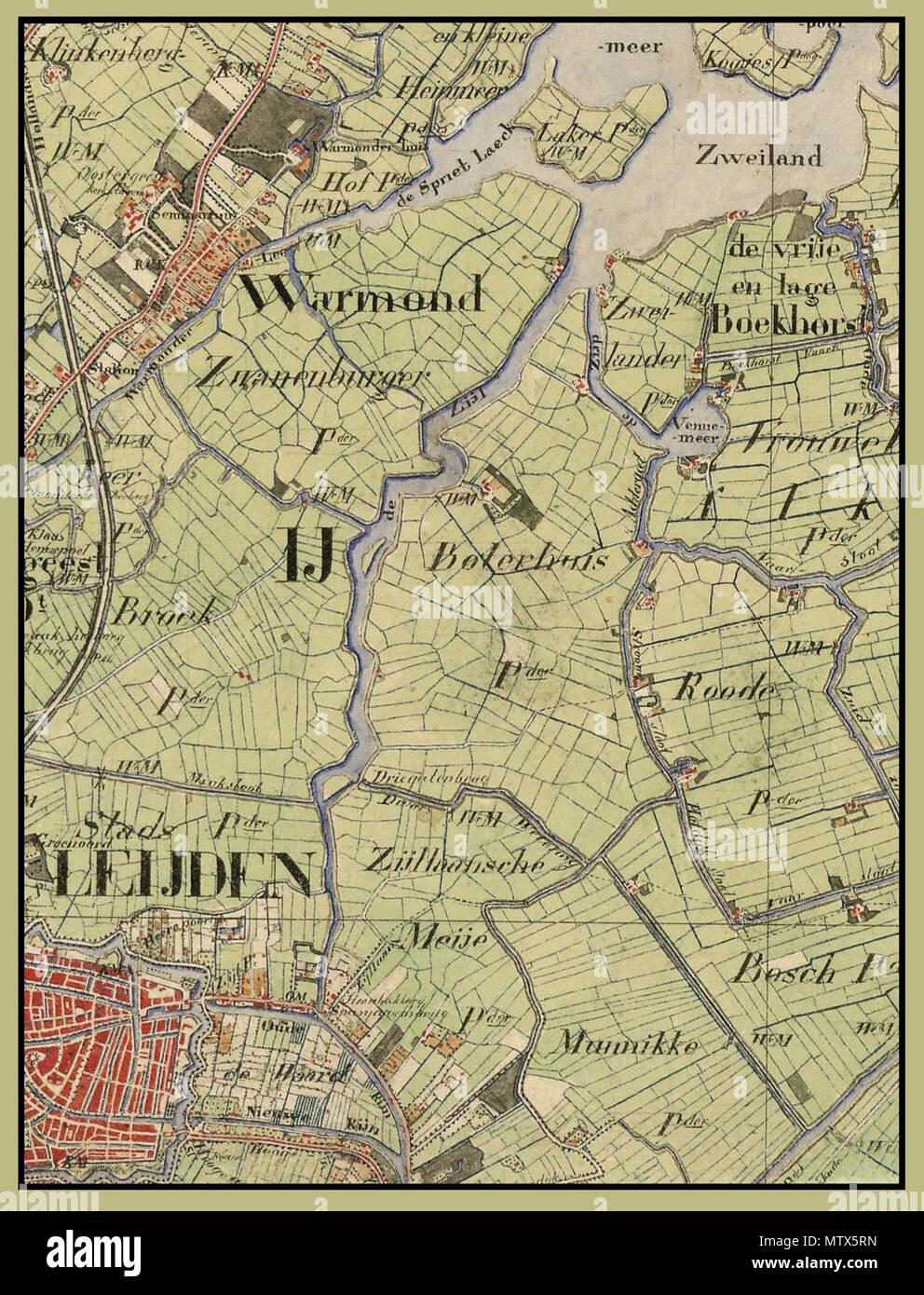 Nederlands Dit Deel Van Een Kaart Van Zuid Holland Uit 1850 1851