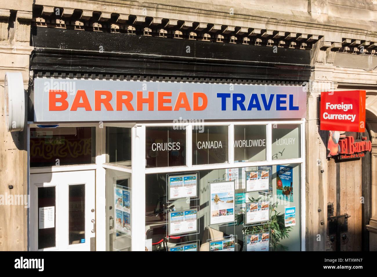 Barrhead Reisen, schottisches Reisebüro jetzt durch Reisen Führer der Gruppe, Hanover Street, Edinburgh, Schottland, Großbritannien Besitz Stockbild