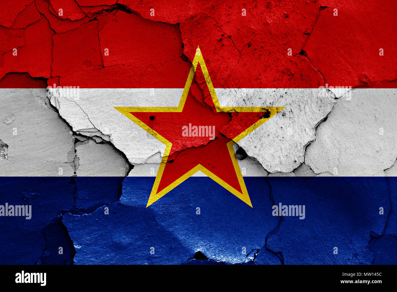 Flagge der Sozialistischen Republik Kroatien Stockbild