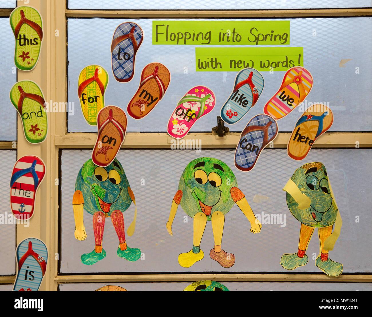 Visuelle Hilfe zu lehren Kindergarten Kinder neue Wörter Stockbild