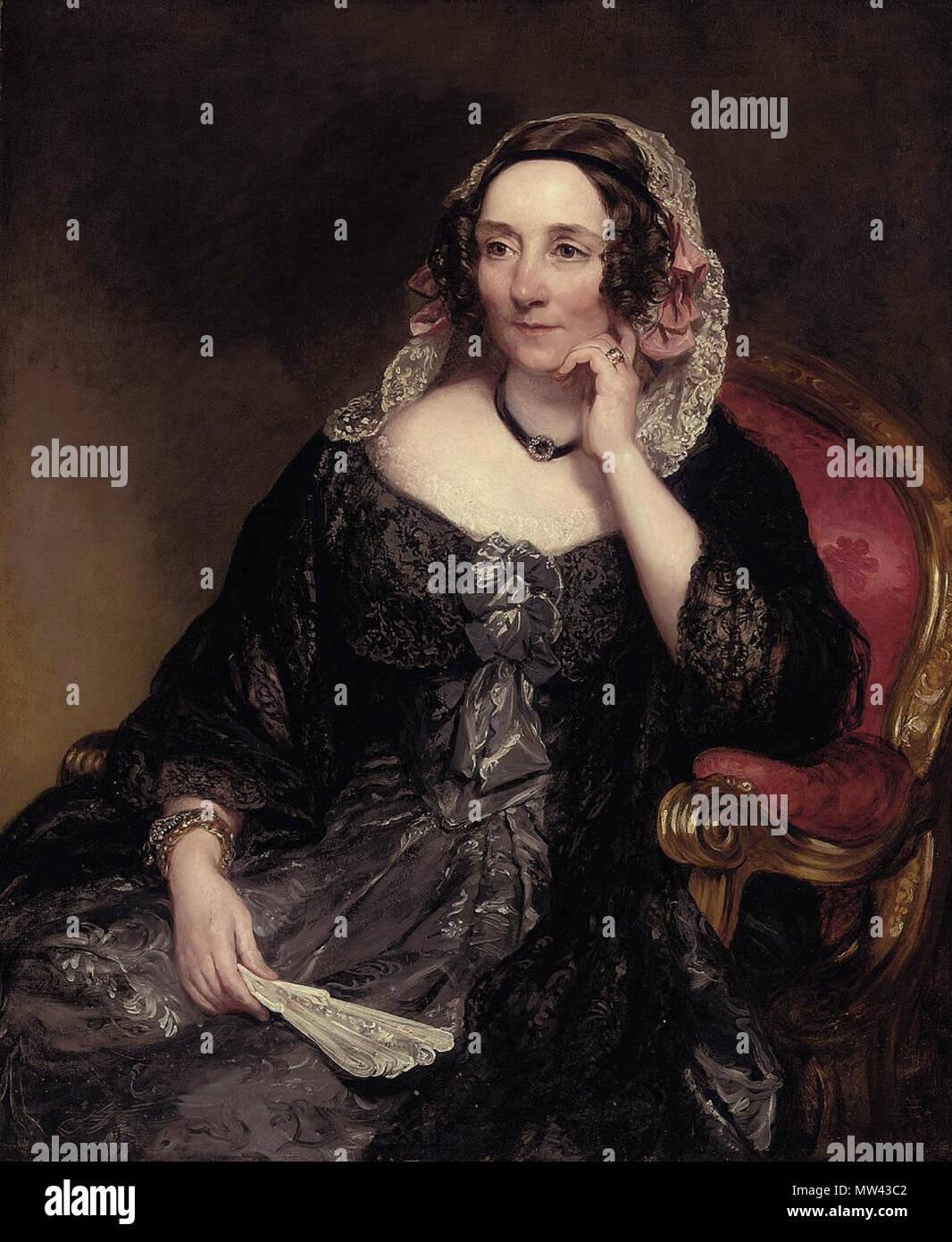 englisch: portrait von selina, lady fitzwygram, geb. hayes