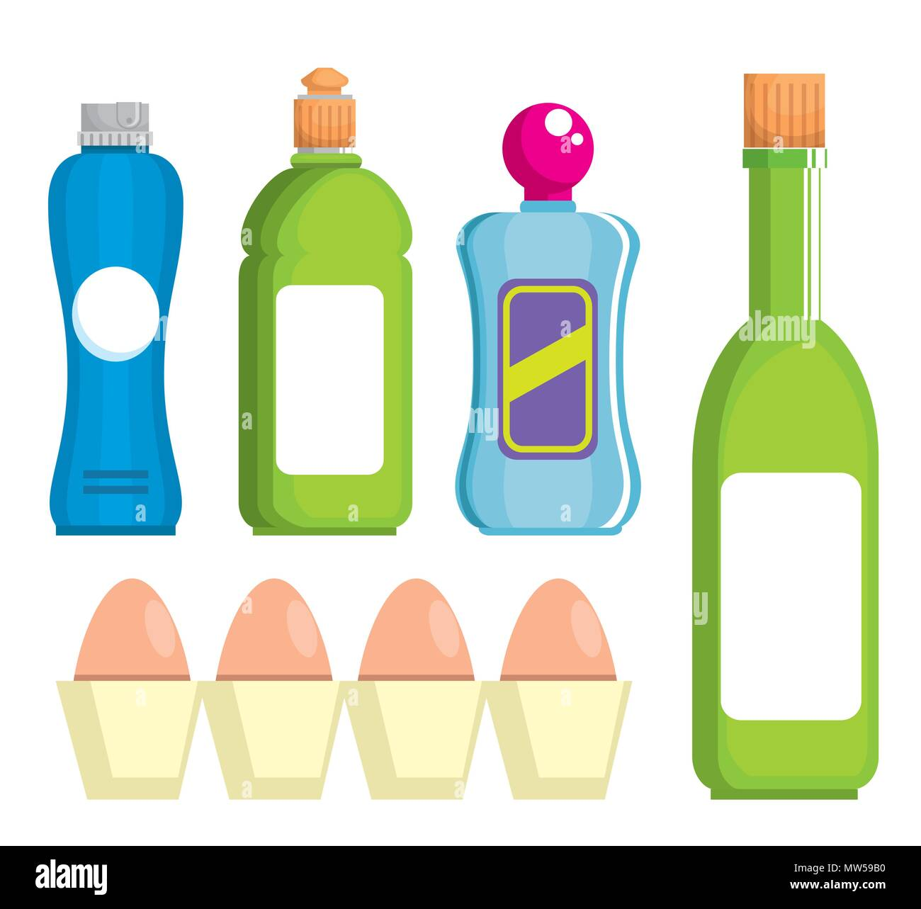 Supermarkt Stellen Produkte Mit Angebot Vektor Abbildung Bild