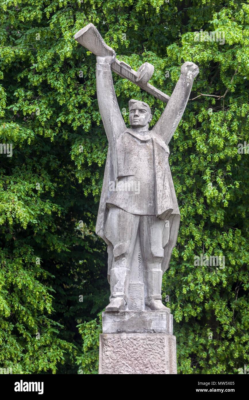 Gedenkstätte von der Roten Armee befreit, Teplice, Tschechische Republik Stockbild