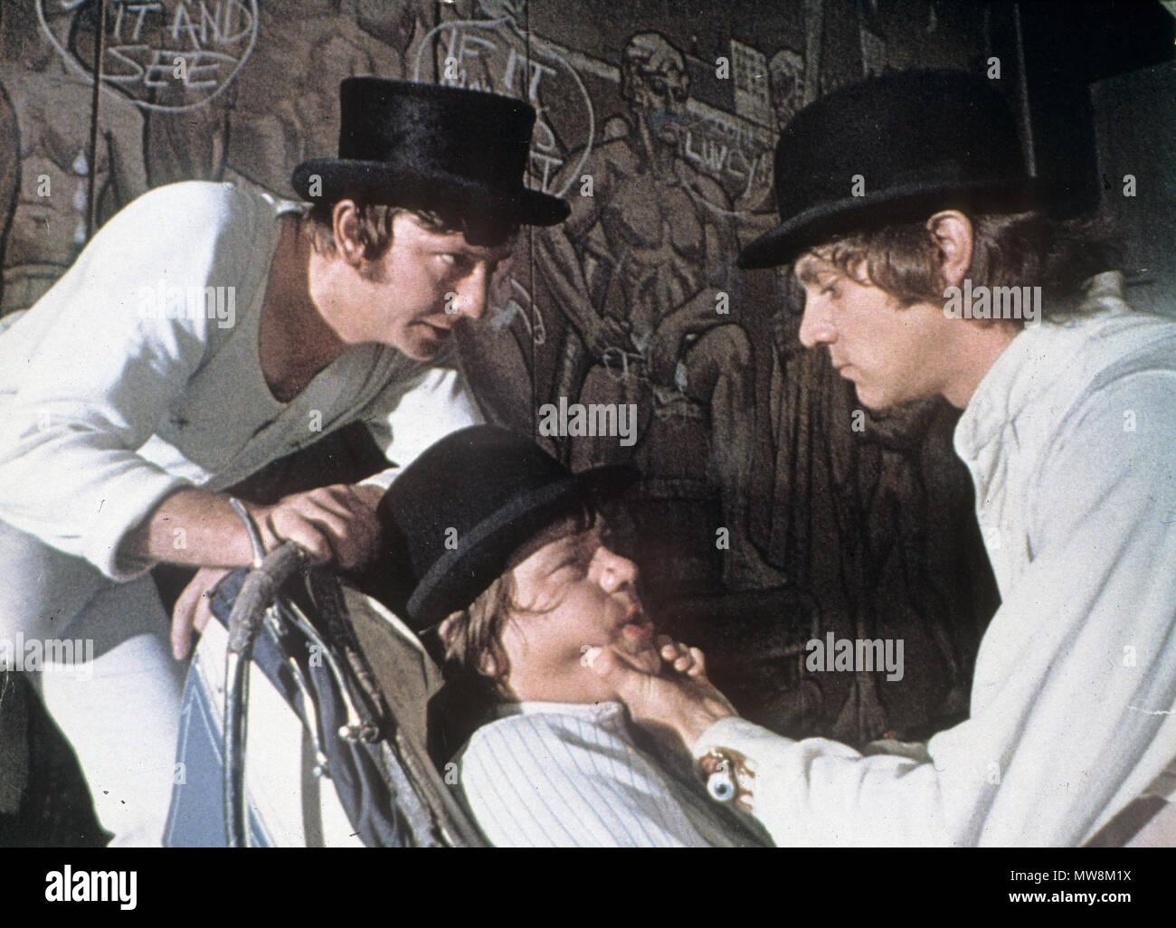 A Clockwork Orange 1971 Warner Bros Film Mit Von Links James Marcus