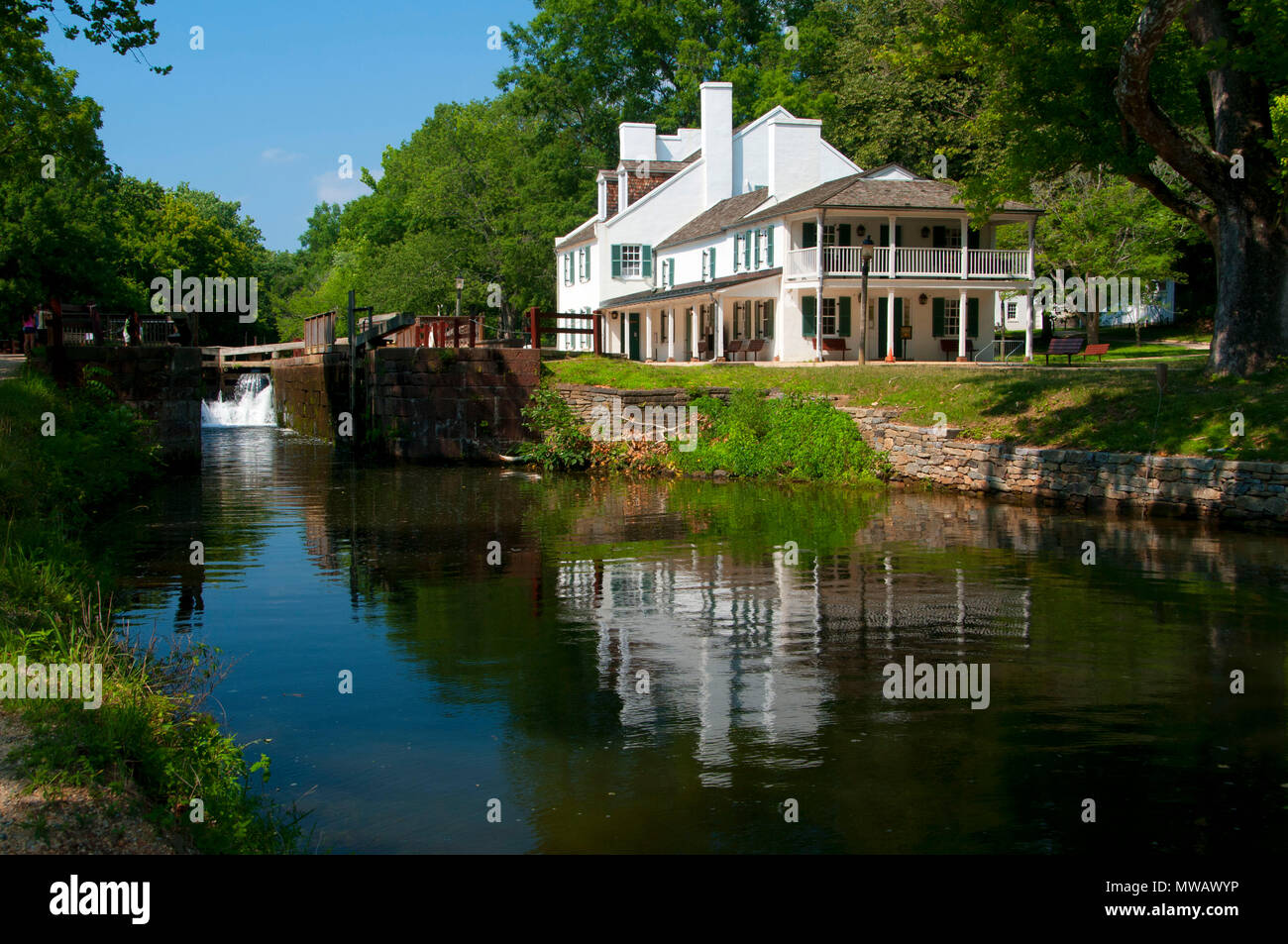 Great Falls Tavern On Canal Stockfotos Great Falls Tavern On Canal