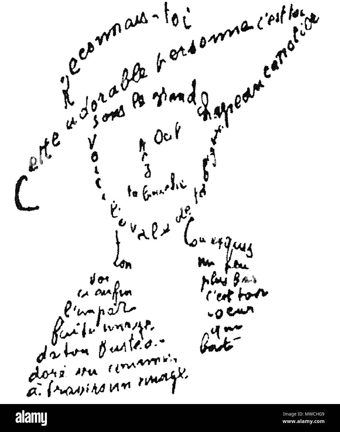 256 Guillaume Apollinaire Calligram Poème Du 9 Février 1915
